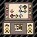 arcade, games, rhythm icon