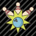 ball, bowling, pins, strike