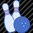 ball, bowling, game, pins