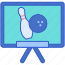 bowling, ball, classes, sign icon