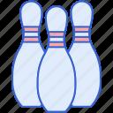 bowling, game, pins