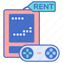 gamepad, games, rent icon