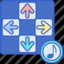 games, music, rhythm icon