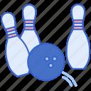 ball, bowling, pins, spare