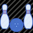 ball, bowling, pins, split
