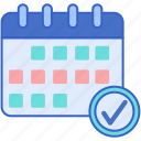 calendar, events, weekly icon