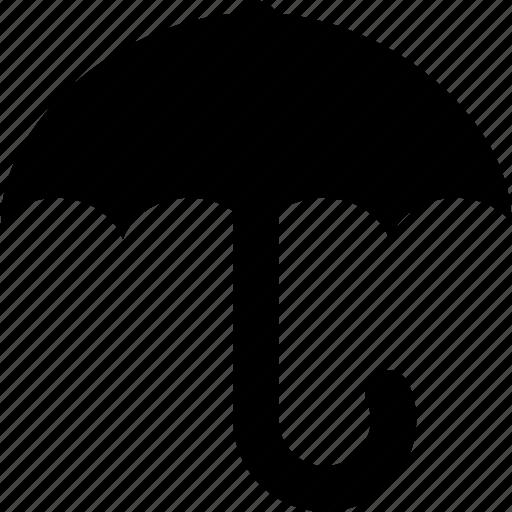 box, contents, dry, keep dry, rain, umbrella, water icon