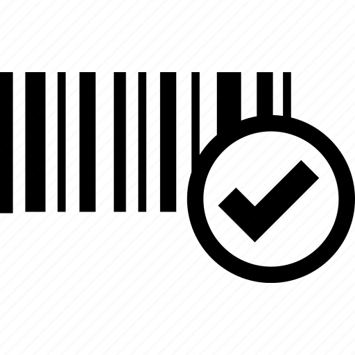 barcode, logistics, retail, scan, scanner, verified, warehousing icon