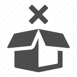 blocked, box, crate, delivery, logistics, package, restricted icon