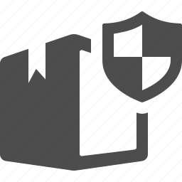 box, crate, insurance, logistics, package, security, shield icon