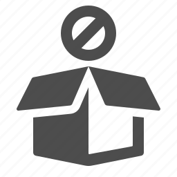 box, crate, delivery, package, restricted, shipping icon