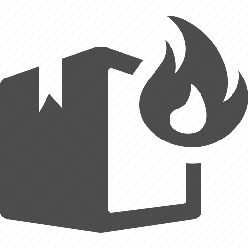 box, boxes, crate, delivery, fire, flame, flammable, logistics, on fire, package icon
