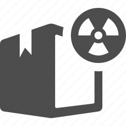 biohazard, box, crate, danger, nuclear, package icon
