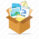 box, computer, internet, marketing, package, seo, web icon