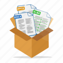 box, document, file, files, folder, package icon