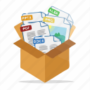 box, files, documents, package, document, format, folder