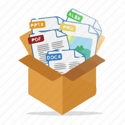 box, document, documents, files, folder, format, package icon