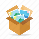 box, gallery, image, package, photo, picture icon
