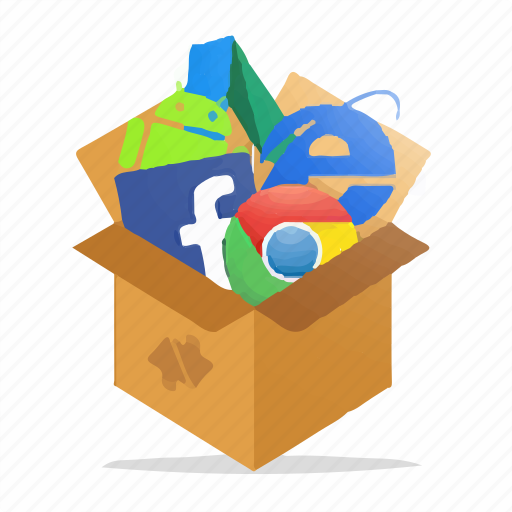 box, computer, marketing, package, seo, tools, web icon