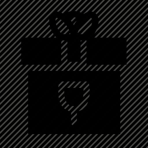 birthday, box, boxex, gift, solid icon