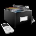 box, media, music