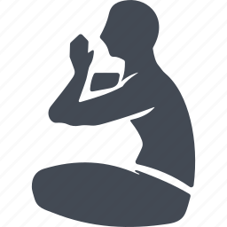 buddhism, buddhist, medication, meditation, pose, yoga icon