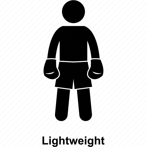 boxer, boxing, category, kick, light, man, weight icon