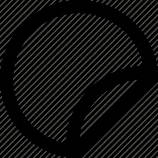 circle, edge, fold, merchandise, paper, sticker icon