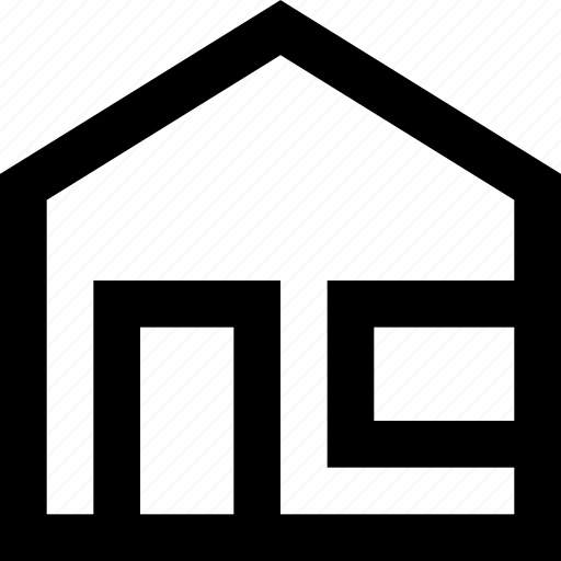 building, home, house, residence, roof, window icon