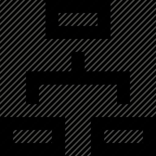boxes, breakdown, chart, flow, hierarchy, mindmap, process icon