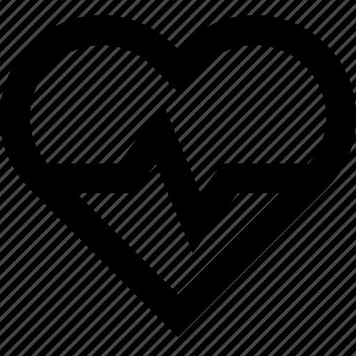 activity, heart, impulse, lifeline, love, pulse icon