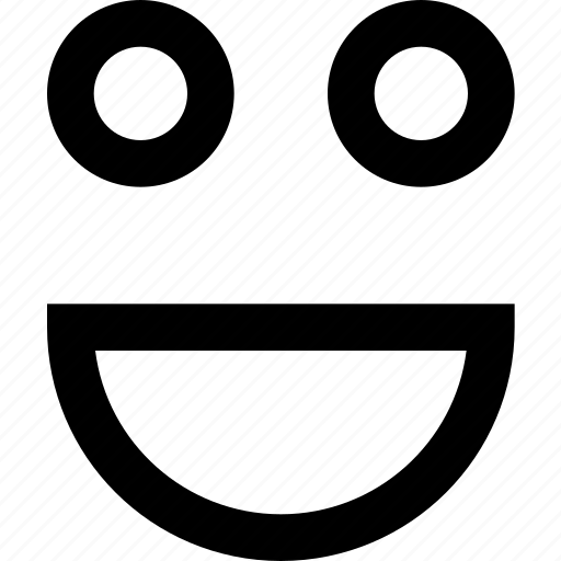 expression, face, fun, happy, joy, laugh, smile icon