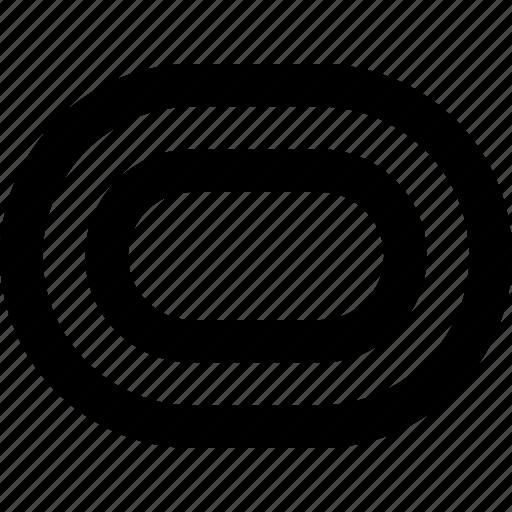 circular, geometric, olympic, ovals, running, track icon