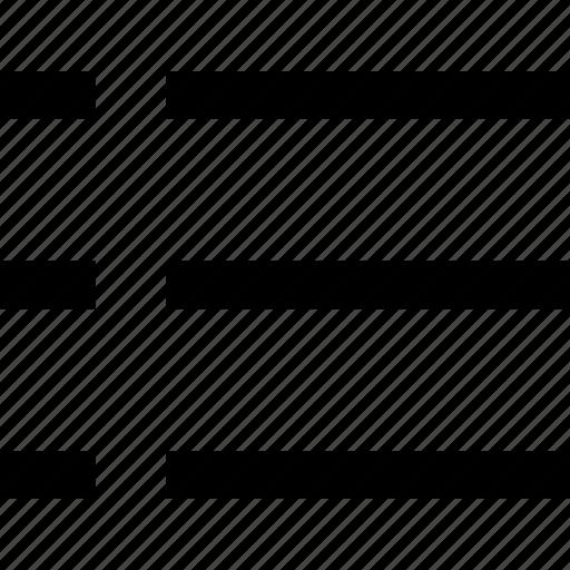 arrangement, do, list, text, to, typography, unordered icon
