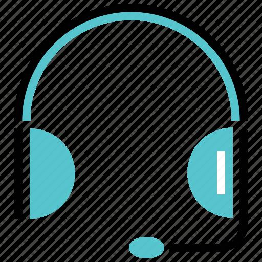 bpo, customer, head phone, support, talk icon