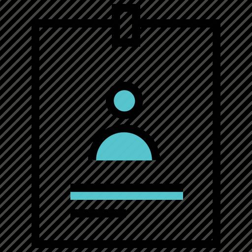 card, employee, id, identity icon