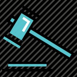 hammer, law, regulations icon