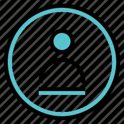 circle, picture, profile, profile icon icon