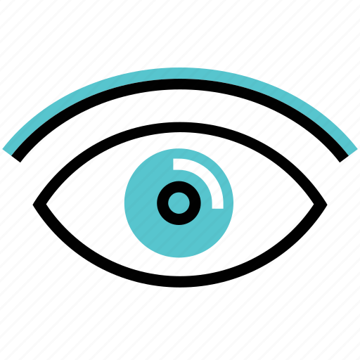 eye, impression, look, see, view, vision icon