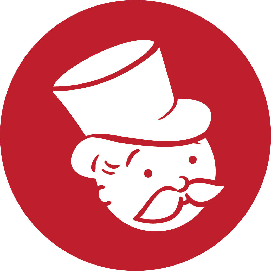 monopoly, red icon