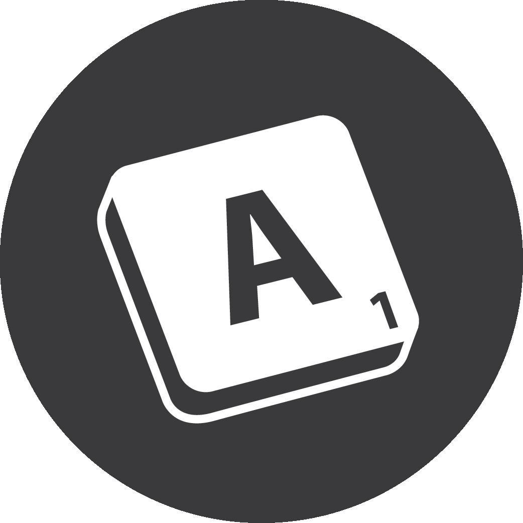 grey, scrabble icon