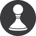 game, chess, grey icon