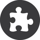 grey, puzzle icon