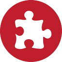 puzzle, red icon