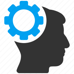 brain gear, brainstorming, configuration, engineering, head, human mind, idea icon