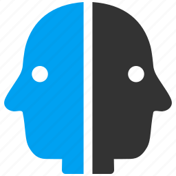 avatar, double head, dual face, janus, people, person, user icon