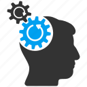 brain gear, cogs rotation, configuration, engineering, head gears, human mind, idea, refresh icon