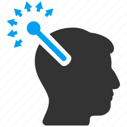 head connectors, innovation, matrix connector, neural links, open mind, optical interface, web connection icon