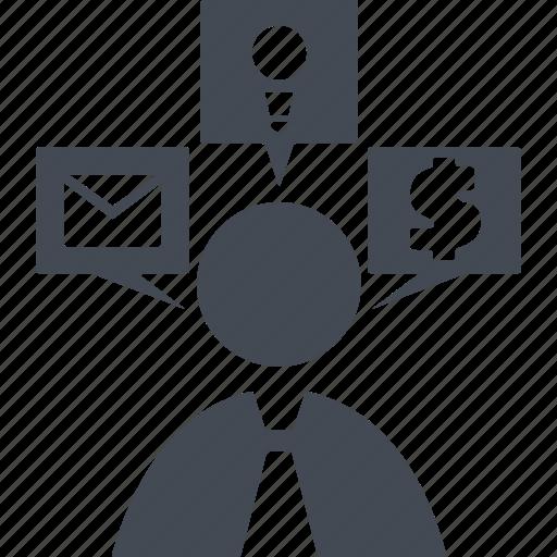 brainstorm, head, idea, mind, person, think, thinking icon