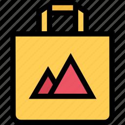 bag, brand, branding, design, print icon